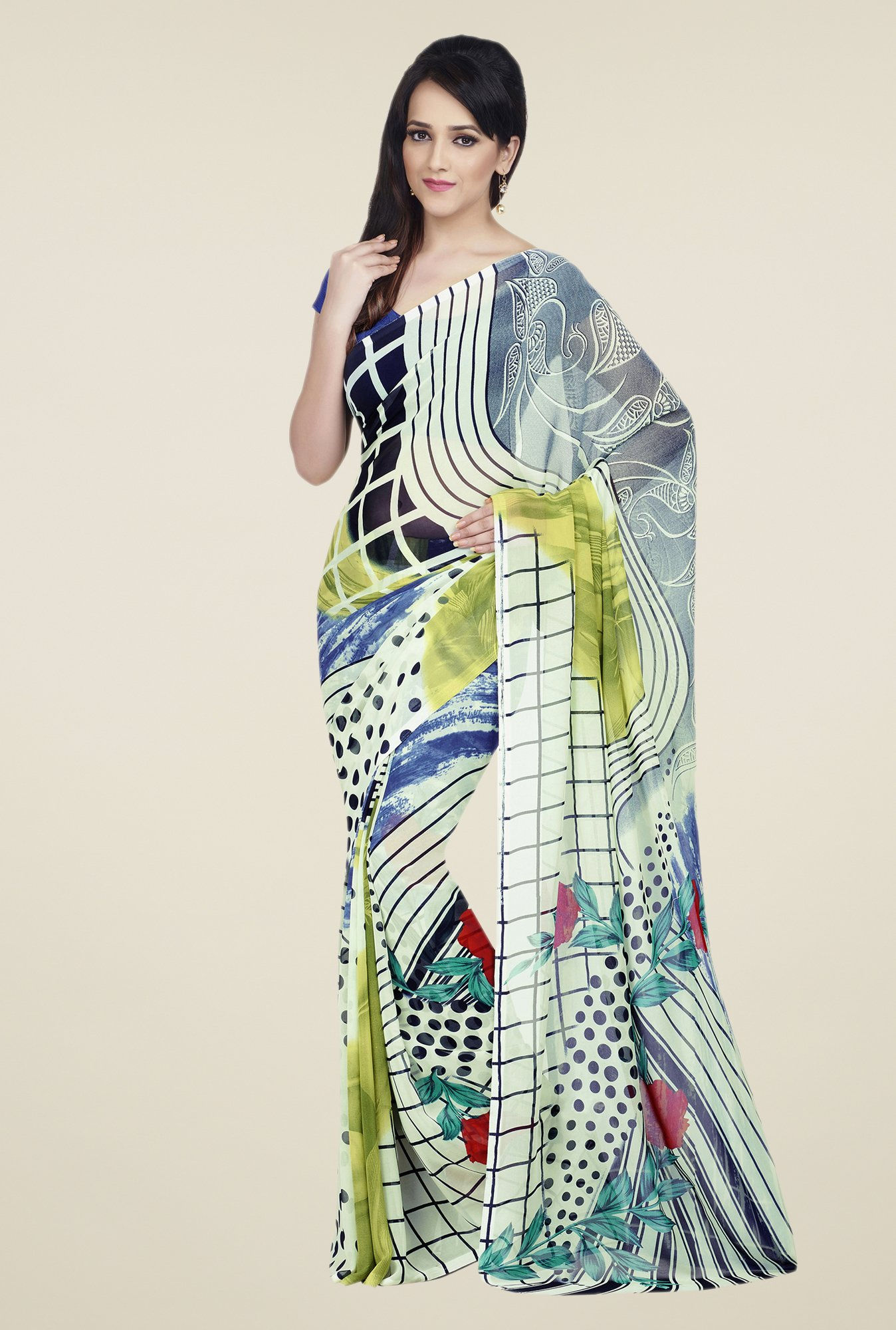 Shonaya Multicolor Dry Clean Printed Saree