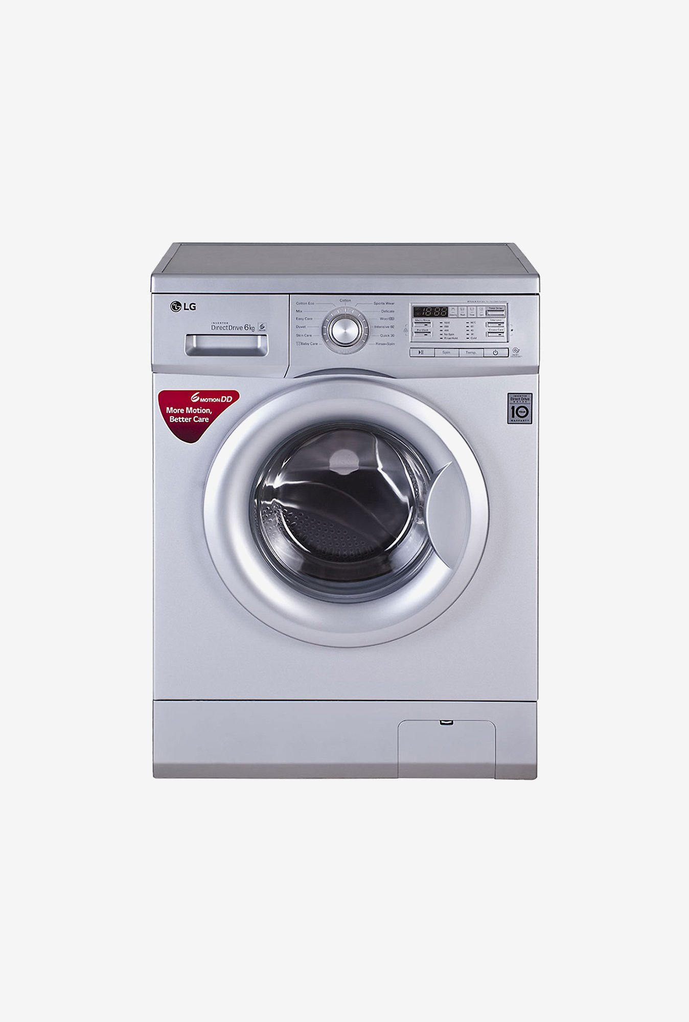 LG FH0B8NDL25 6Kg Front load Washing Machine (Luxury Silver)