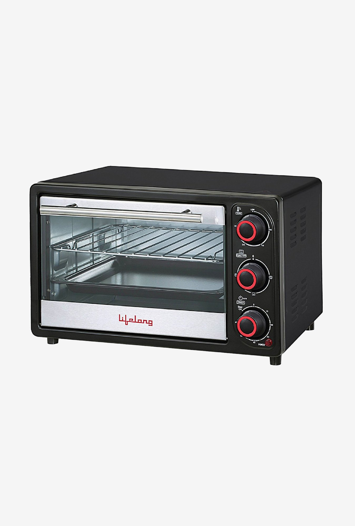 Lifelong 16L Oven Toaster Griller (Black)