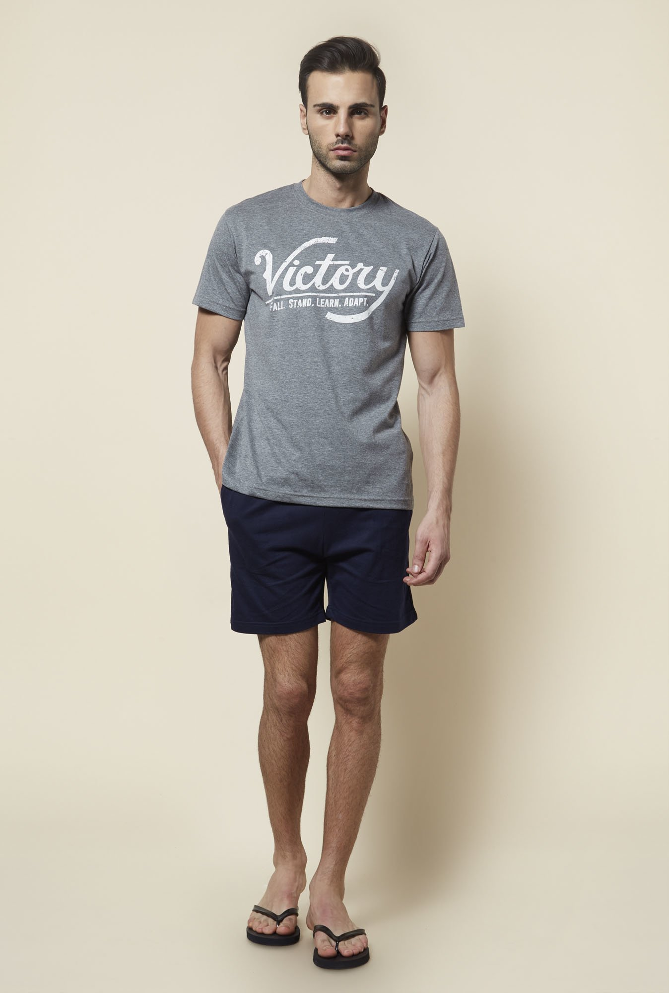 Zudio Navy Solid Shorts