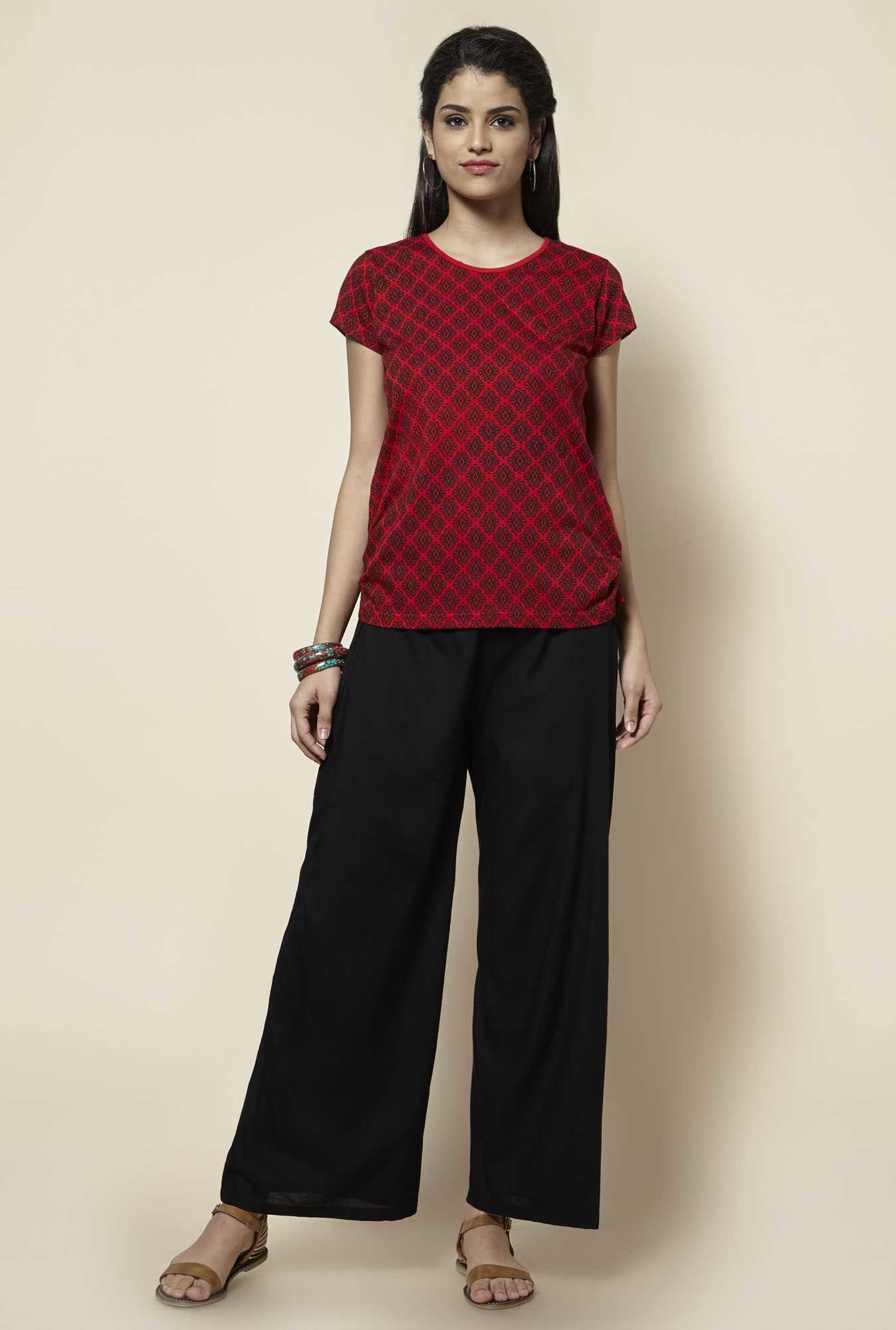 Zudio Red Printed Top