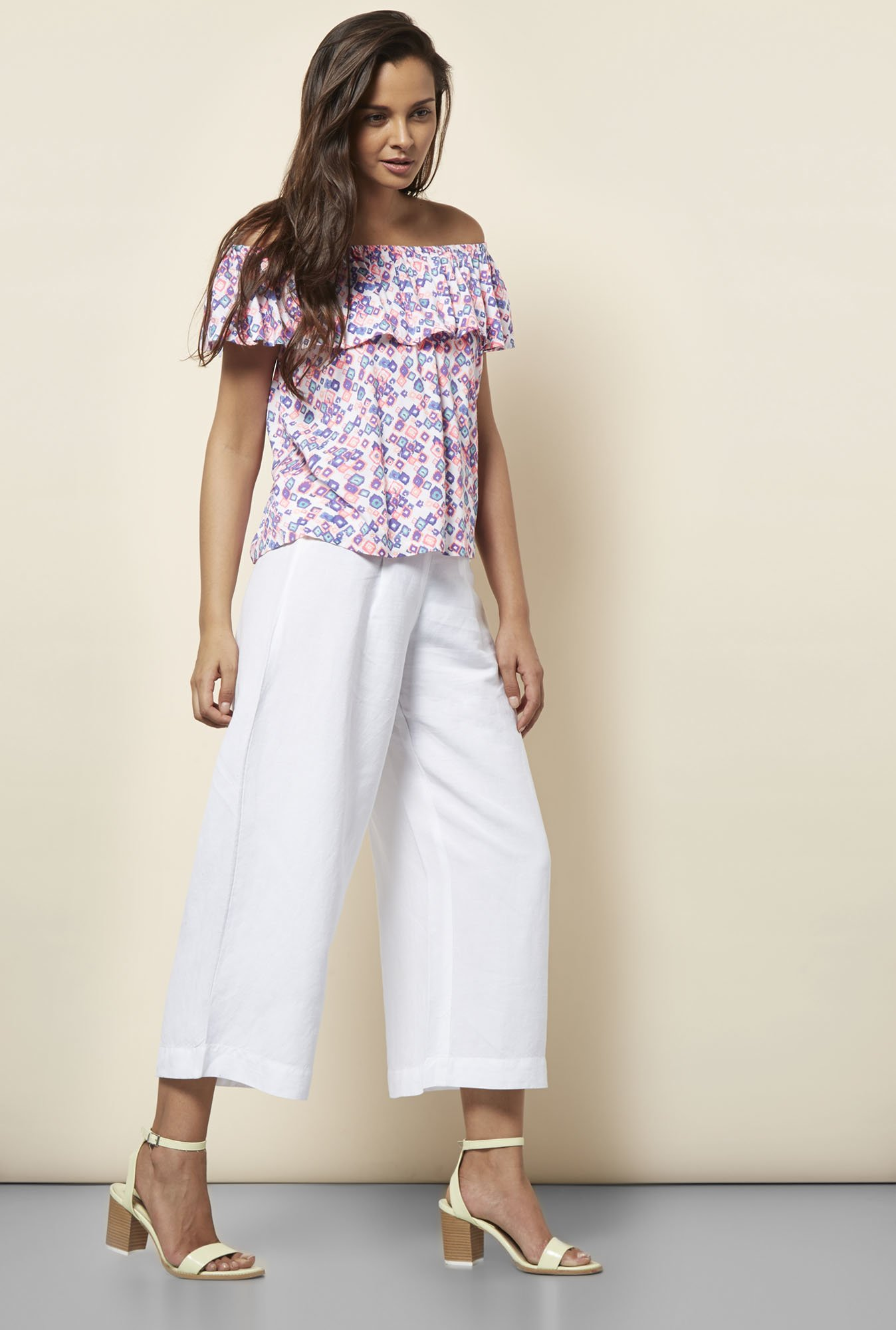 Cottonworld Printed Multicolor Blouse