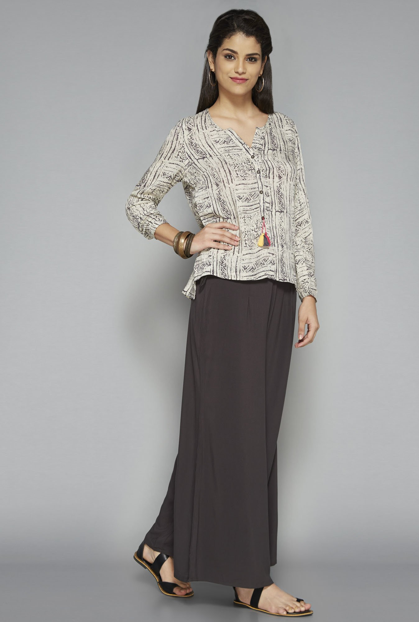 Bombay Paisley by Westside Beige Printed Top