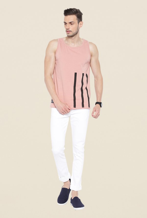 Cult Fiction Pink Striped Vest