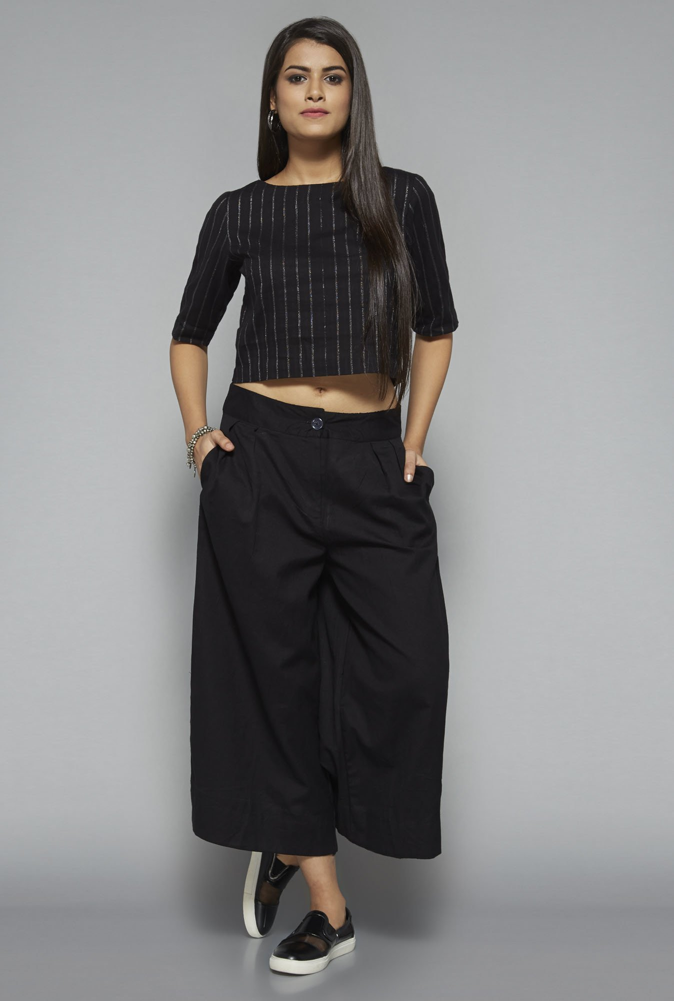 Bombay Paisley by Westside Black Culottes