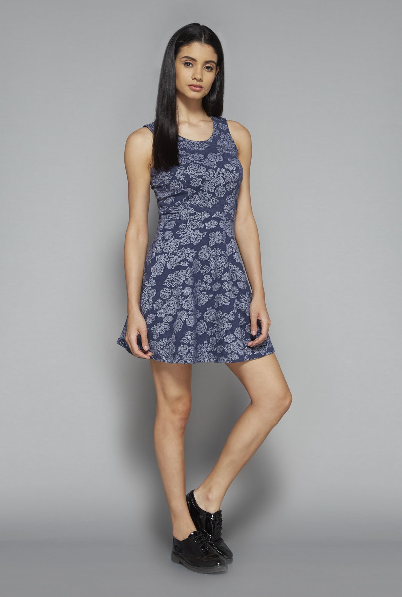Nuon by Westside Navy Printed Dress