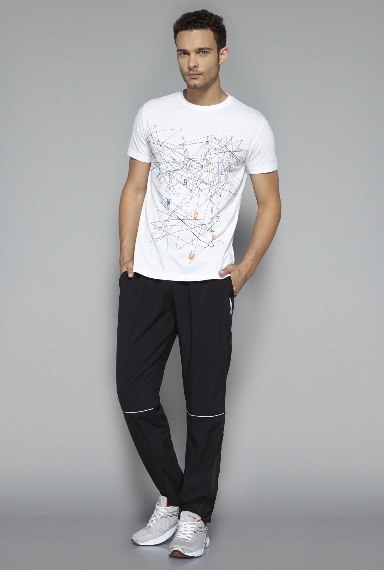 Westsport by Westside White Abstract Print T Shirt