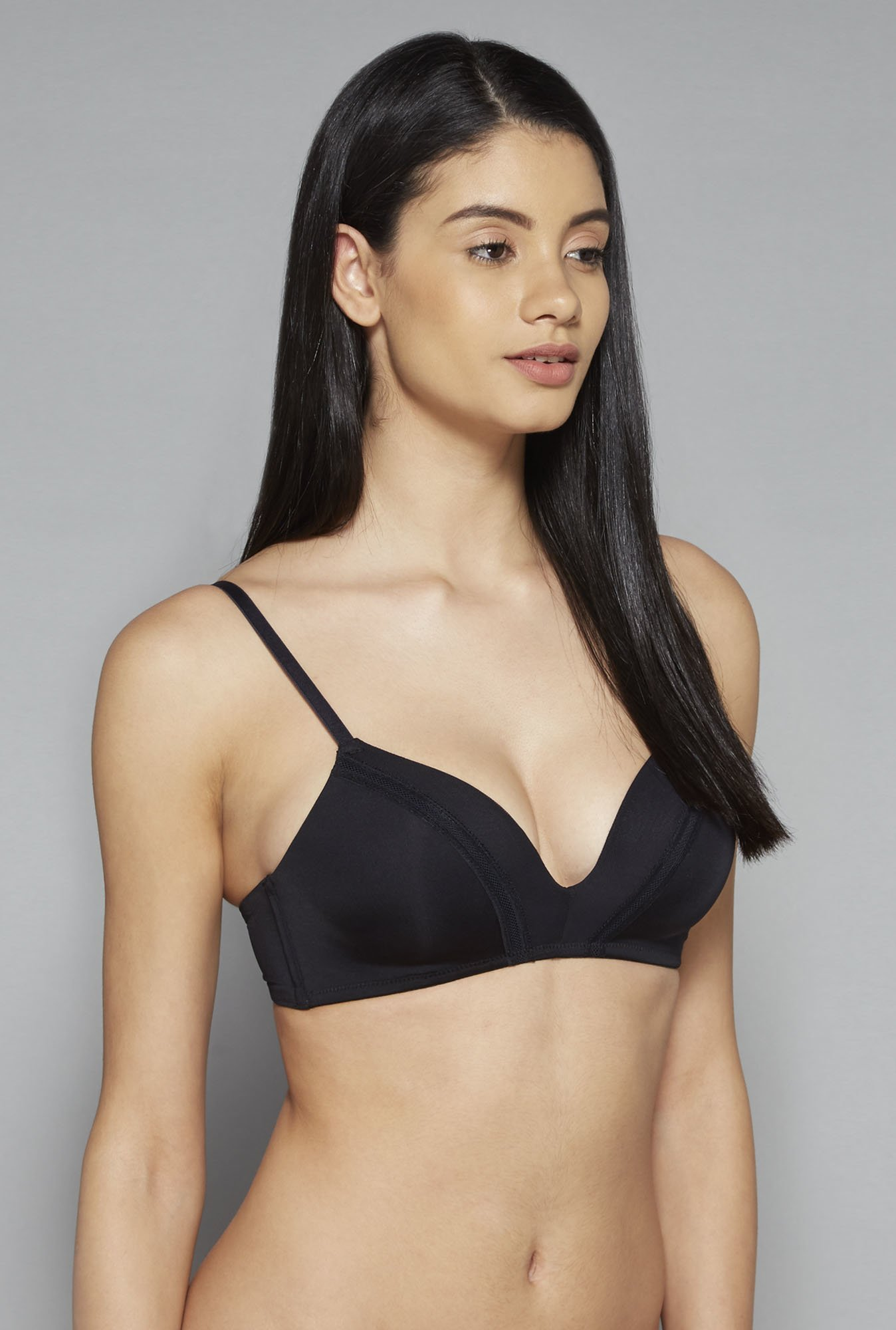 Wunderlove by Westside Black Seamless Bra