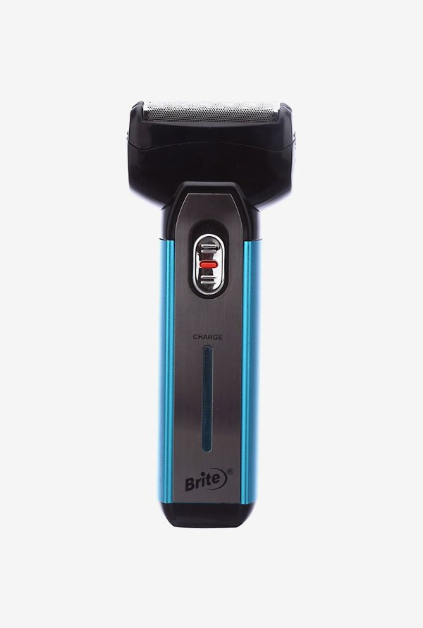 Brite BS-880 Rechargeable Shaver for Men (Blue & Black)