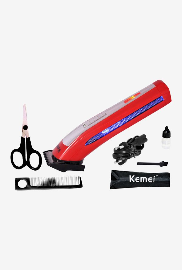 Kemei KM-6911 Trimmer for Men (Red)
