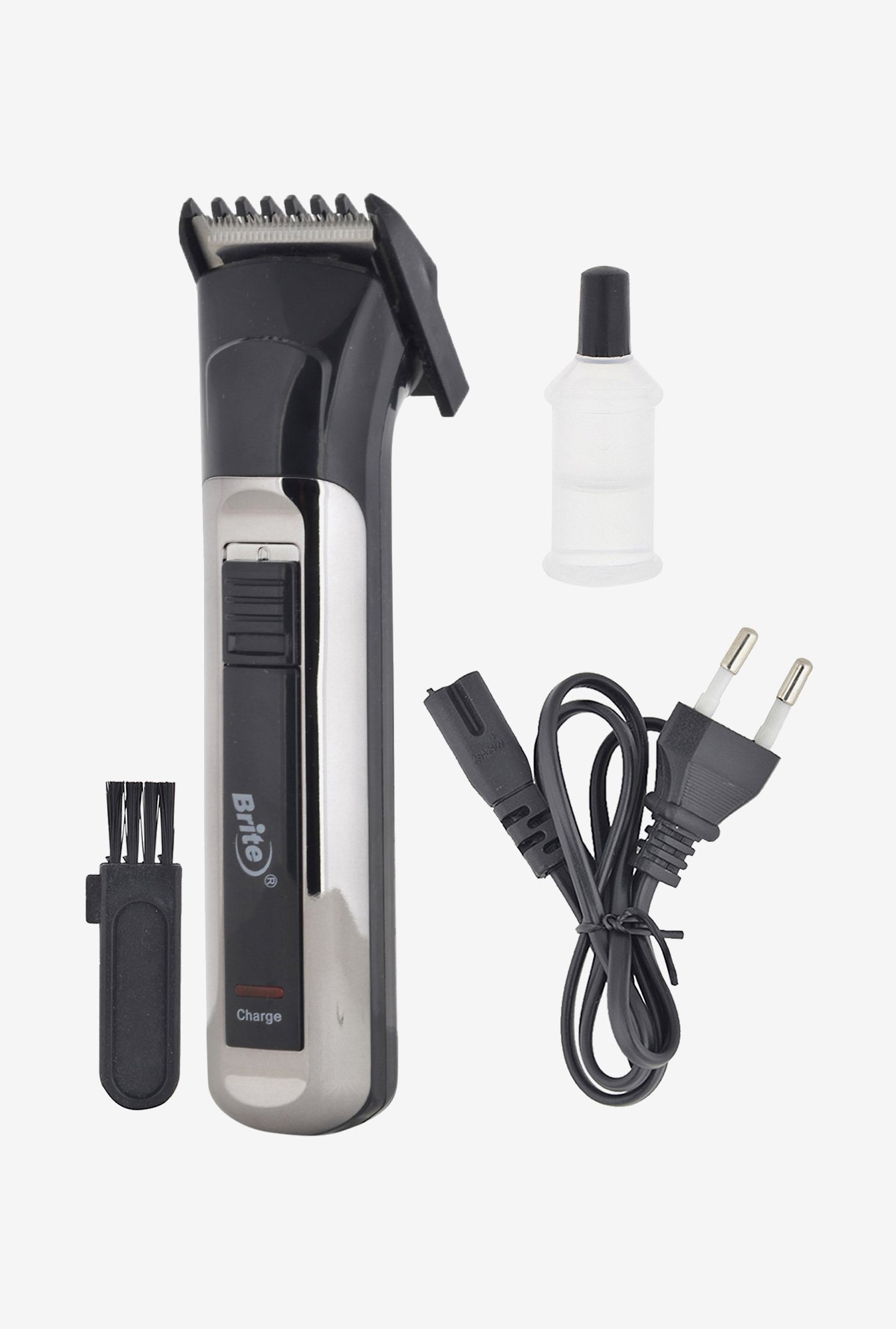 Brite BHT-800 Professional Hair Trimmer for Unisex (Silver)