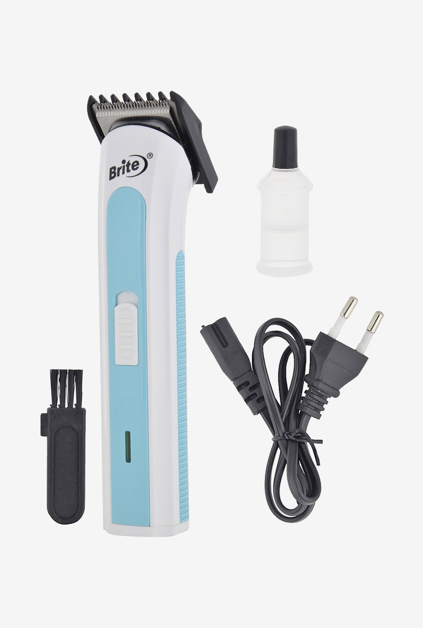 Brite BHT-502 Trimmer for Unisex (White & Blue)