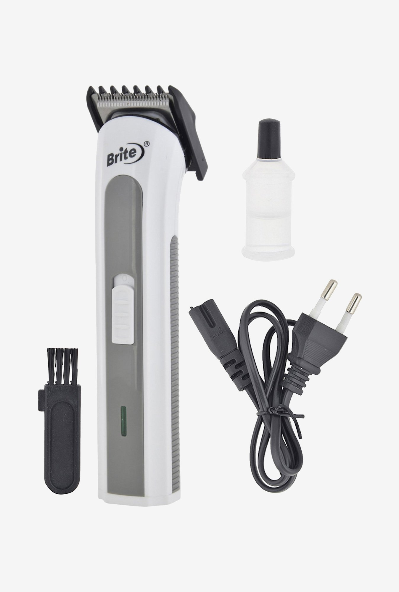 Brite BHT-502 Trimmer for Unisex (White & Grey)
