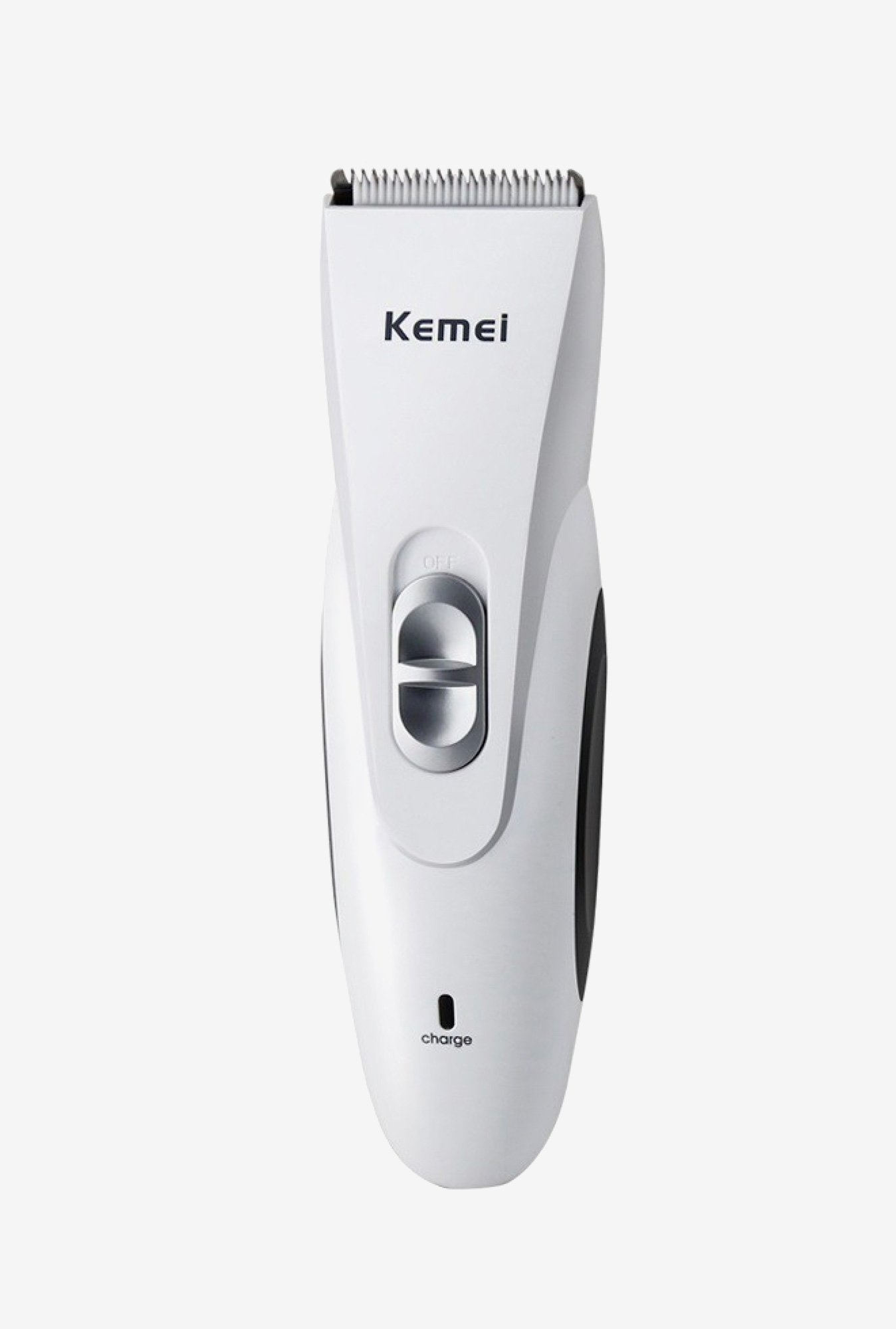 Kemei KM-970 Clipper Trimmer for Men (White & Black)