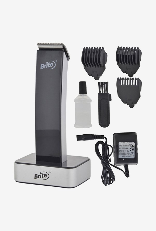 Brite BHT-1010 Trimmer with Dock for Unisex (Black)