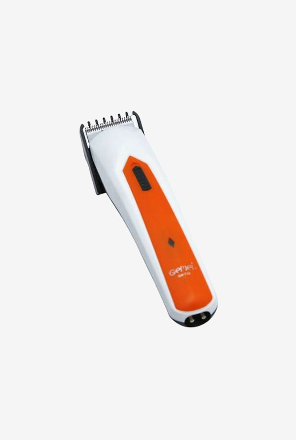Gemei Gm-735-CS Trimmer for Men (White & Orange)