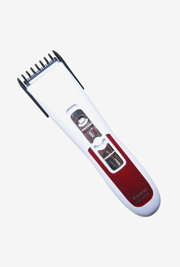 Kemei KM-3003A Trimmer for Men (Red & white)
