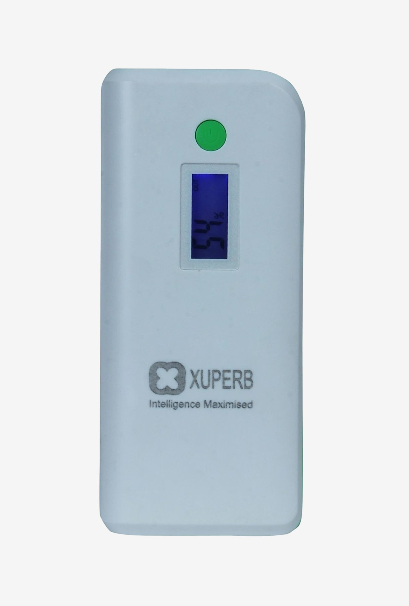 Xuperb XU-M4-110 11000 mAh Power Bank (White & Green)
