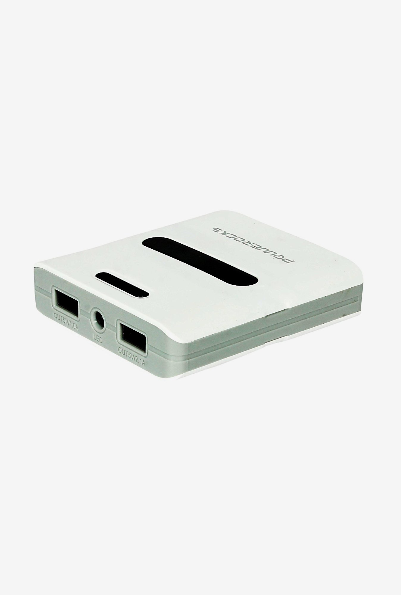 Powerocks Trump 100 10000mAh Power Bank (White & Grey)