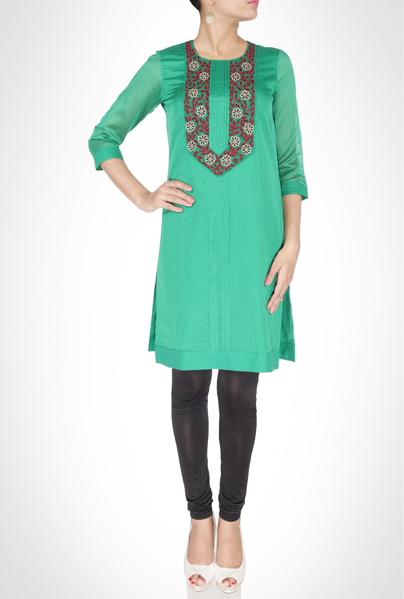 Swapan & Seema Designer Wear Green Kurti By Kimaya