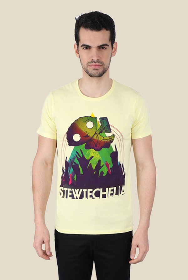 Family Guy Stewiechella Yellow Graphic T-shirt