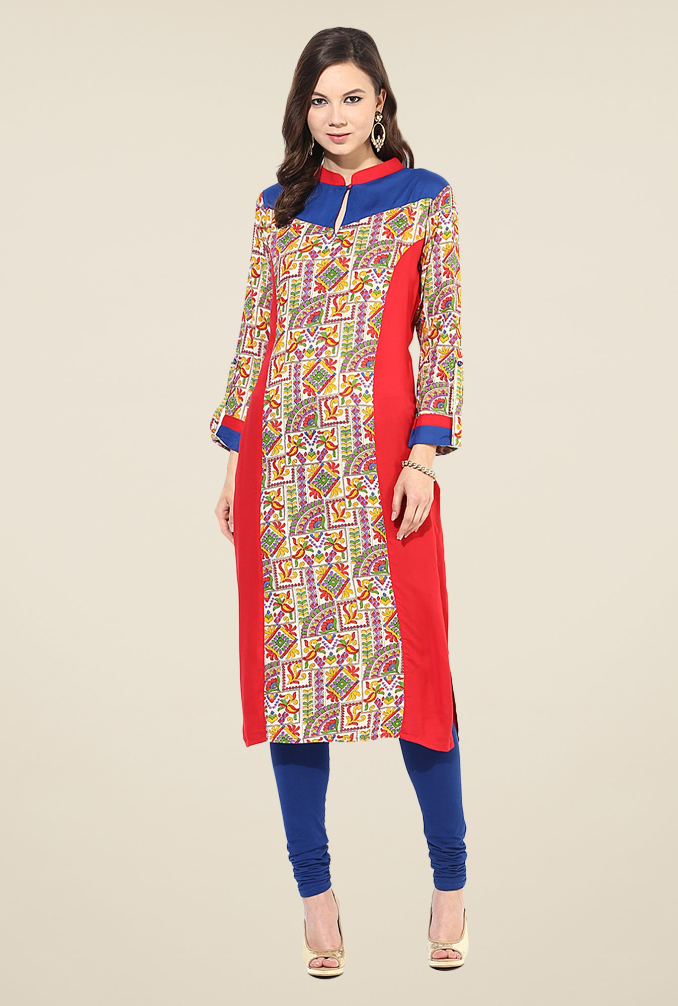 Shree Multicolor Rayon Printed Kurta