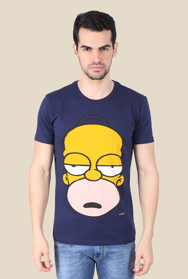 Simpsons Good Old Homer Navy Graphic T-shirt