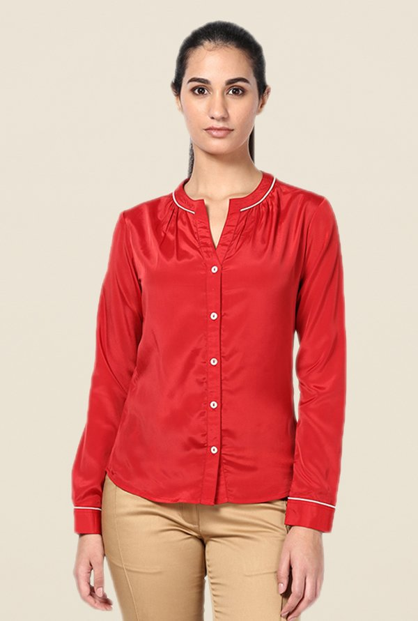 Kaaryah Red Solid Shirt