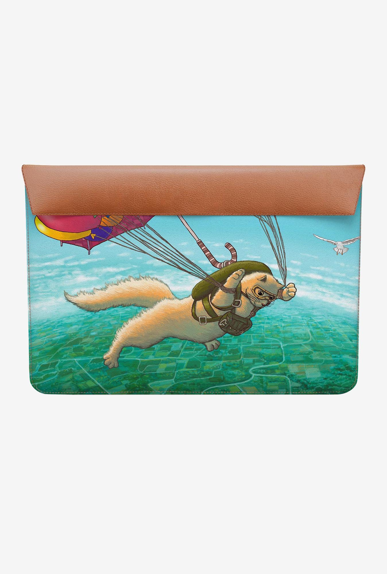 DailyObjects Skydiving Feline MacBook Air 13 Envelope Sleeve
