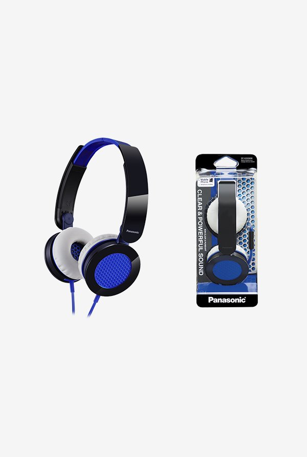 Panasonic RP-HXS200ME On The Ear Headphones (Blue)