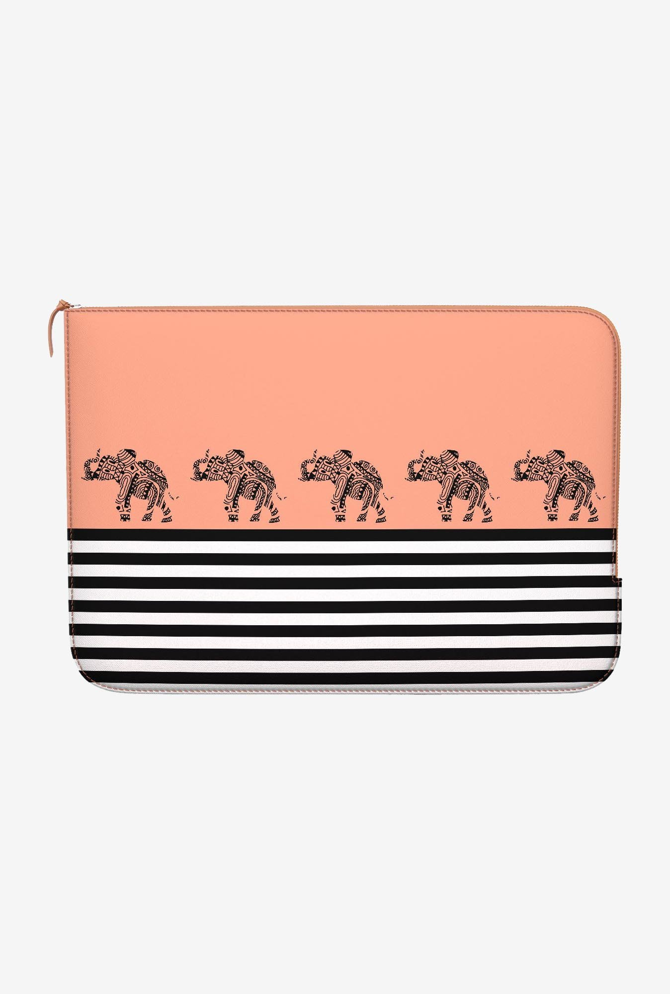 DailyObjects Stripes Coral MacBook Pro 15 Zippered Sleeve
