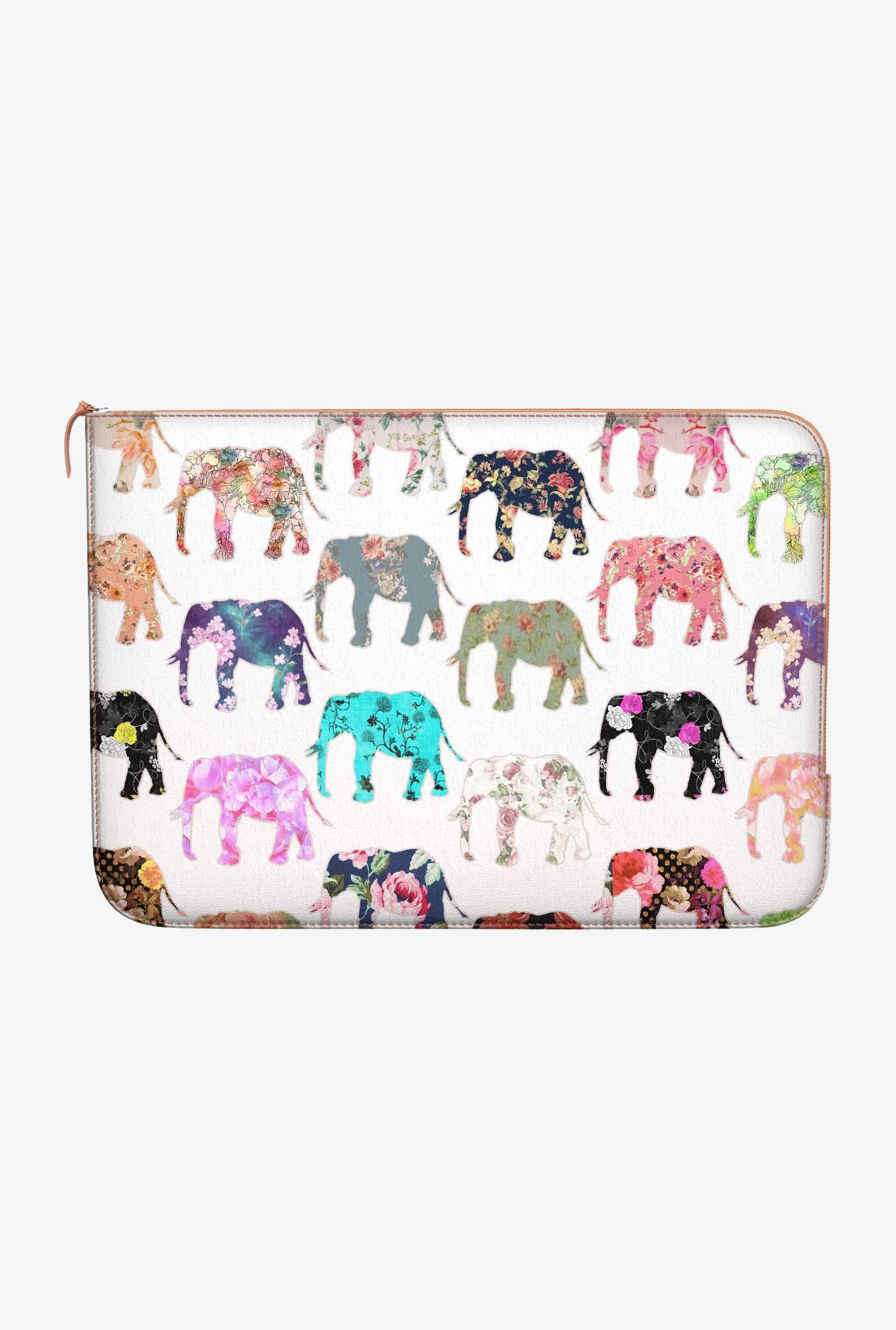 DailyObjects Floral Elephant MacBook Pro 13 Zippered Sleeve