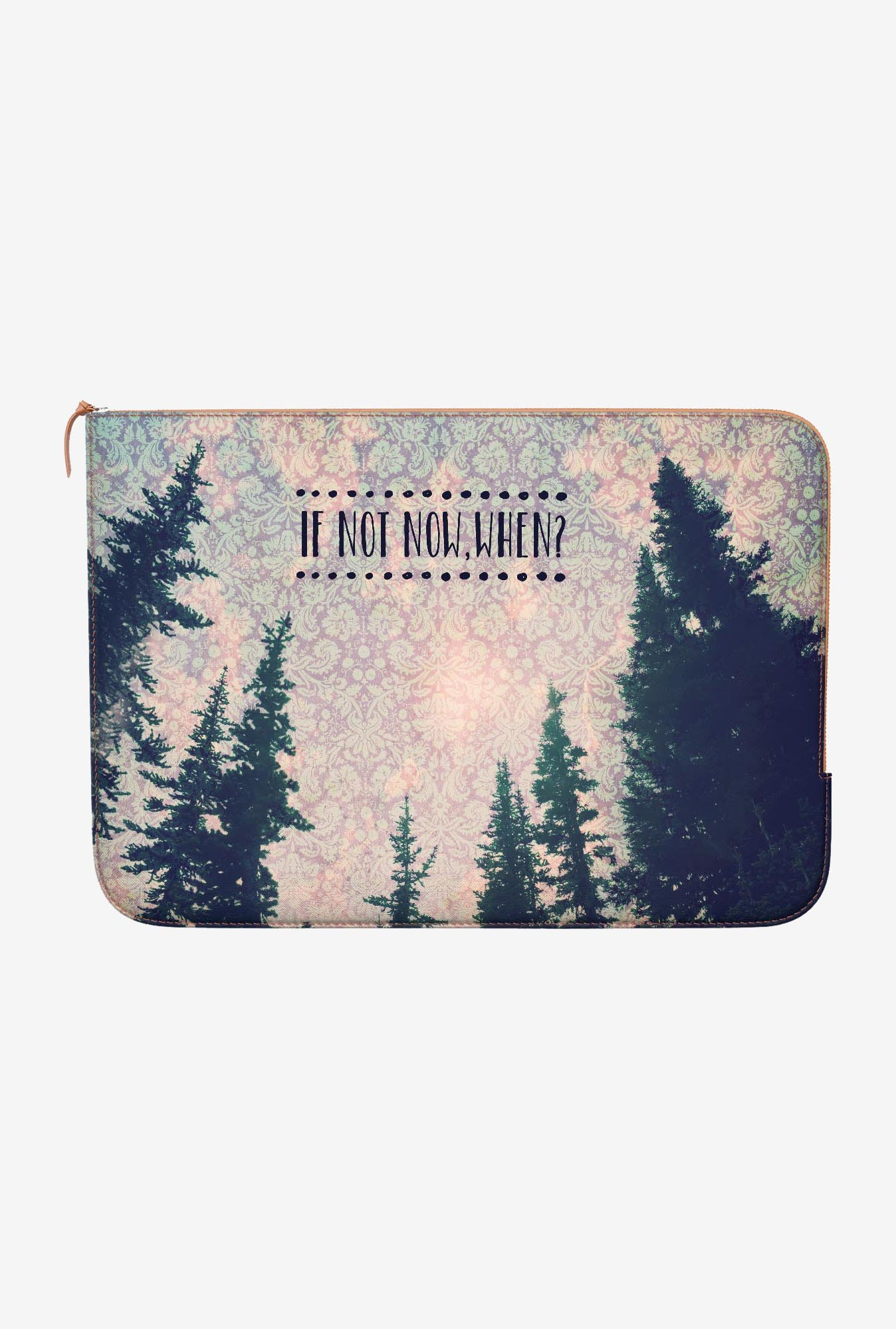 DailyObjects If Not Now MacBook 12 Zippered Sleeve