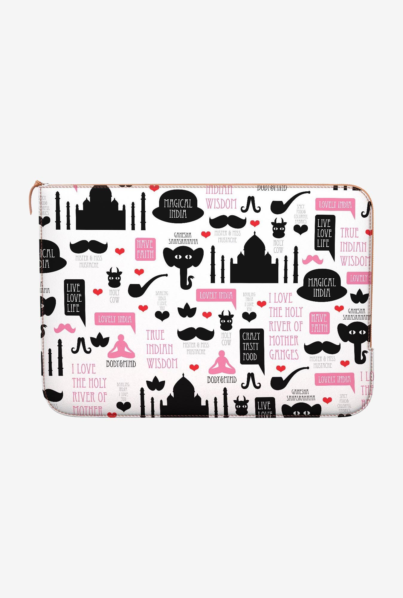 DailyObjects India Icons MacBook Pro 15 Zippered Sleeve