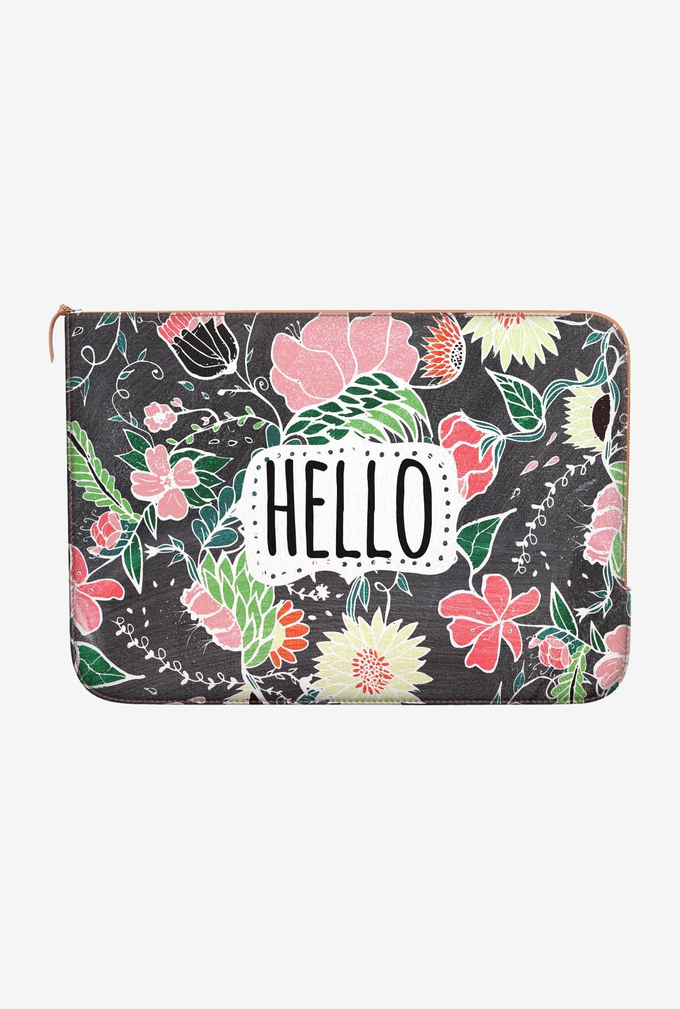 DailyObjects Flowers Hello MacBook Pro 15 Zippered Sleeve
