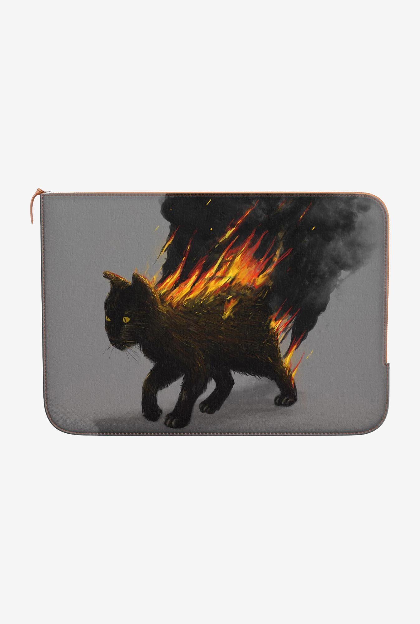 DailyObjects Cat On Fire MacBook Pro 15 Zippered Sleeve
