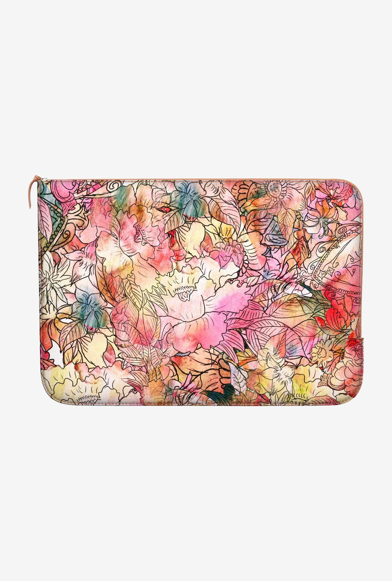 DailyObjects Colorful Floral MacBook Pro 15 Zippered Sleeve