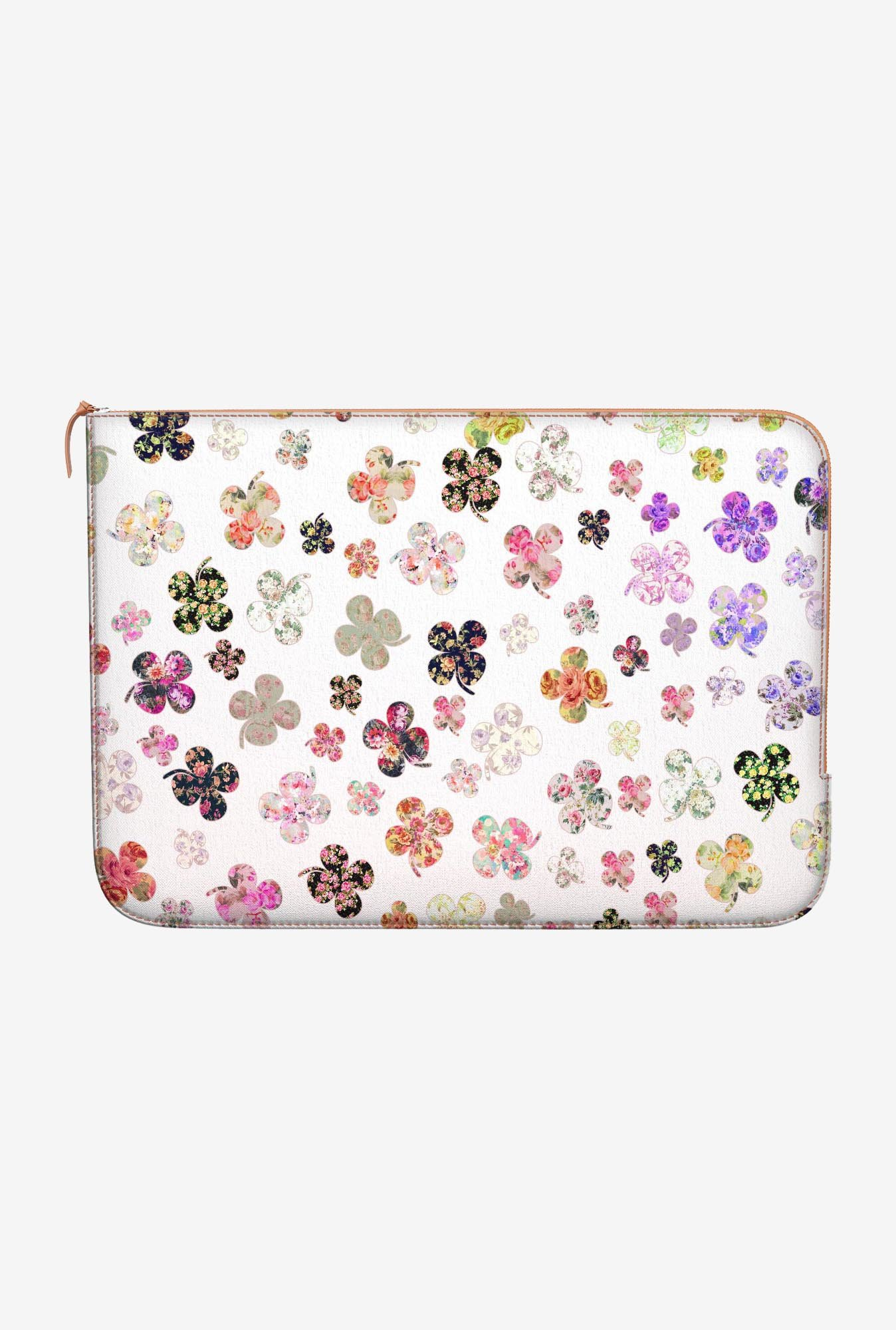 DailyObjects Floral Clovers MacBook Pro 15 Zippered Sleeve