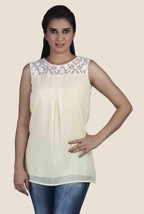 Soie Lime Lace Top