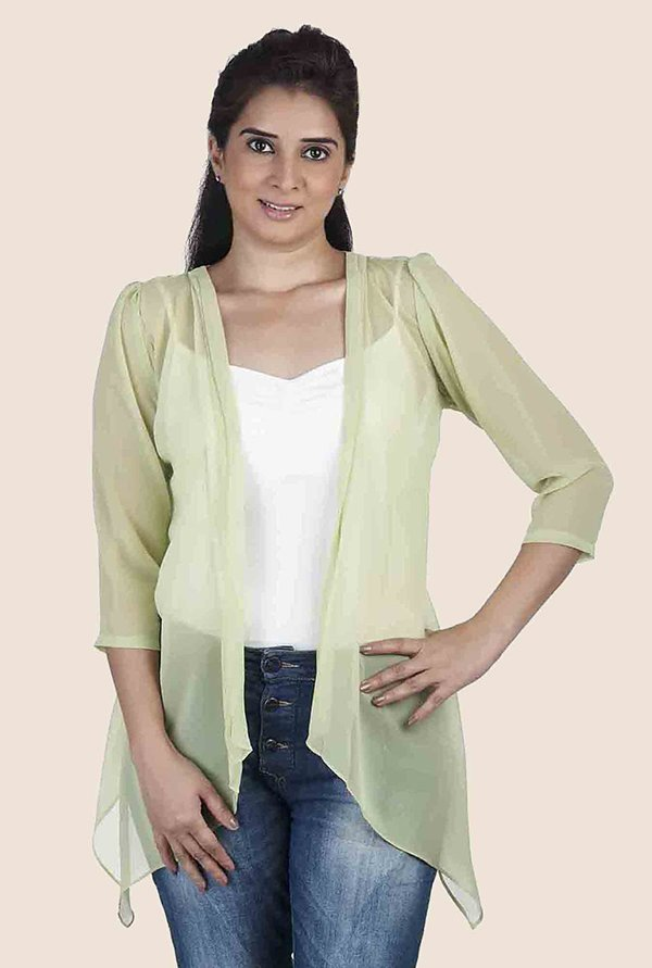 Soie Lime Solid Shrug