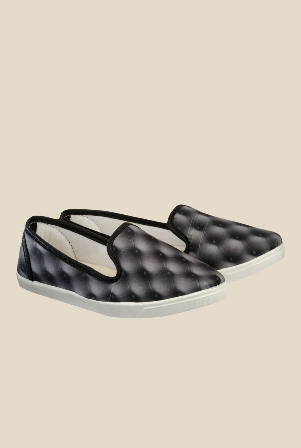 Nell Black & White Loafers