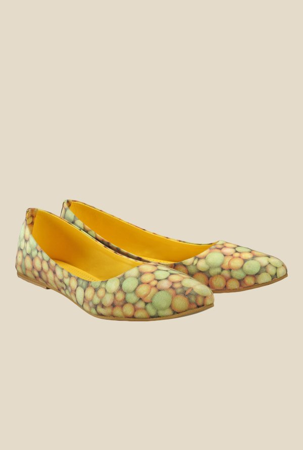 Nell Yellow & Green Flat Ballets