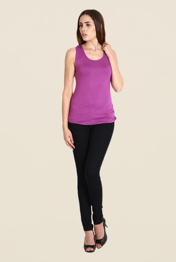 Soie Purple Solid Top