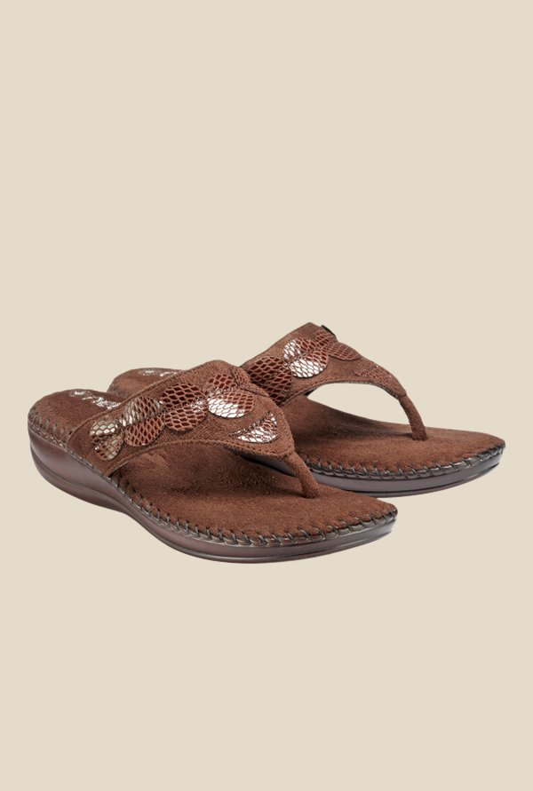 Nell Brown Thong Sandals
