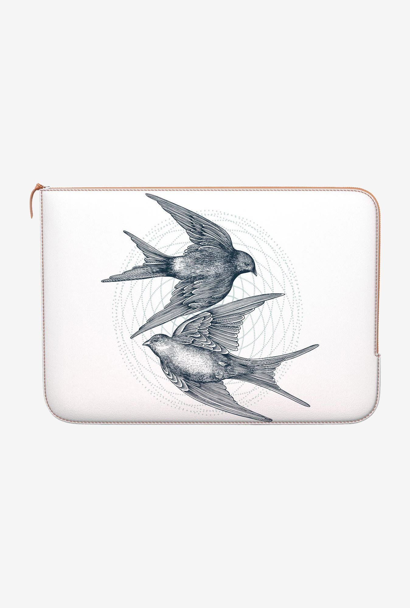 DailyObjects Circle Swallows MacBook Pro 15 Zippered Sleeve