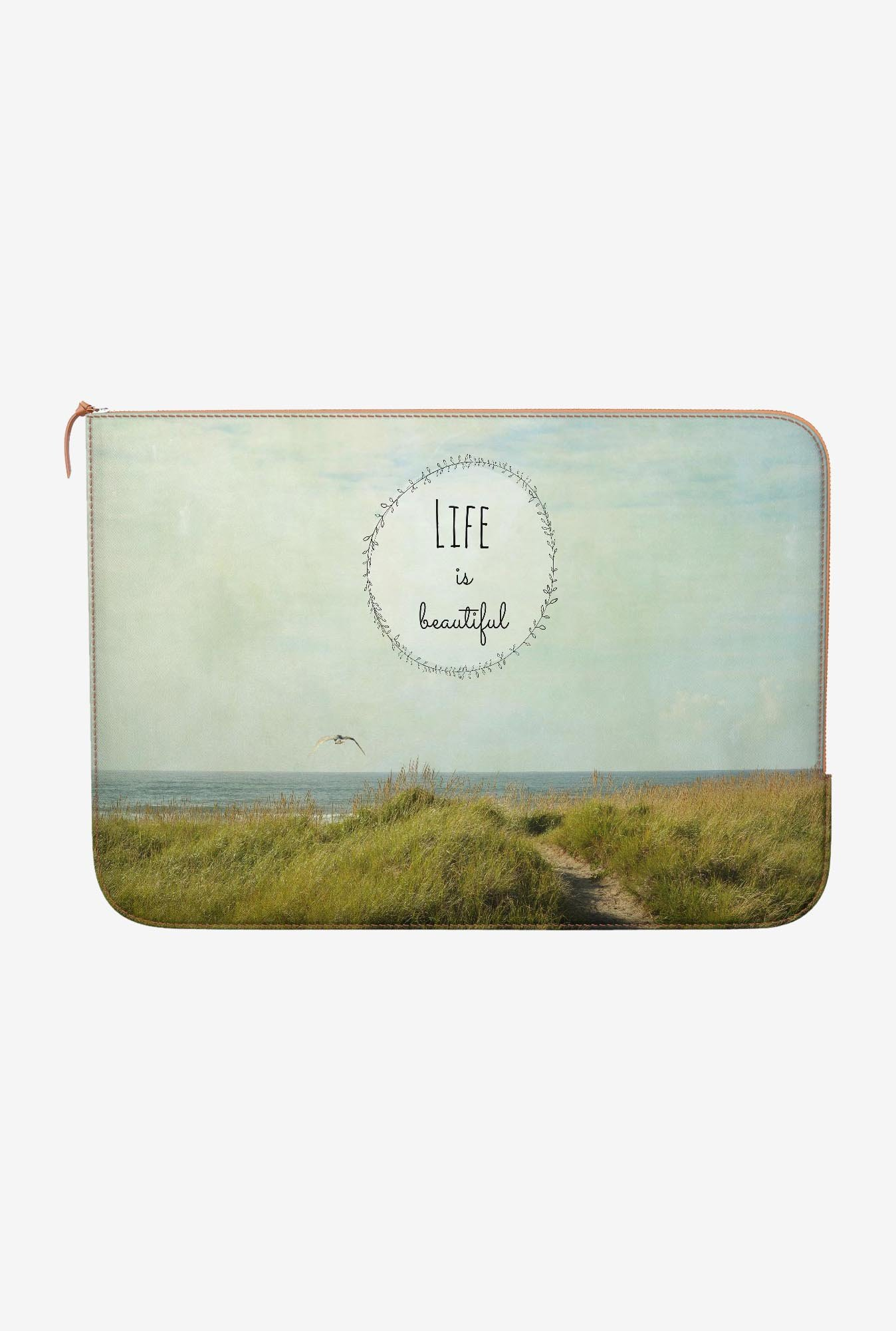DailyObjects Beautiful life MacBook Air 11 Zippered Sleeve