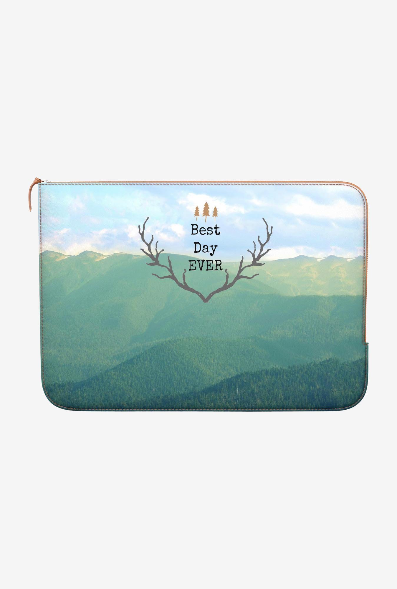 DailyObjects Best Day Ever MacBook Pro 13 Zippered Sleeve