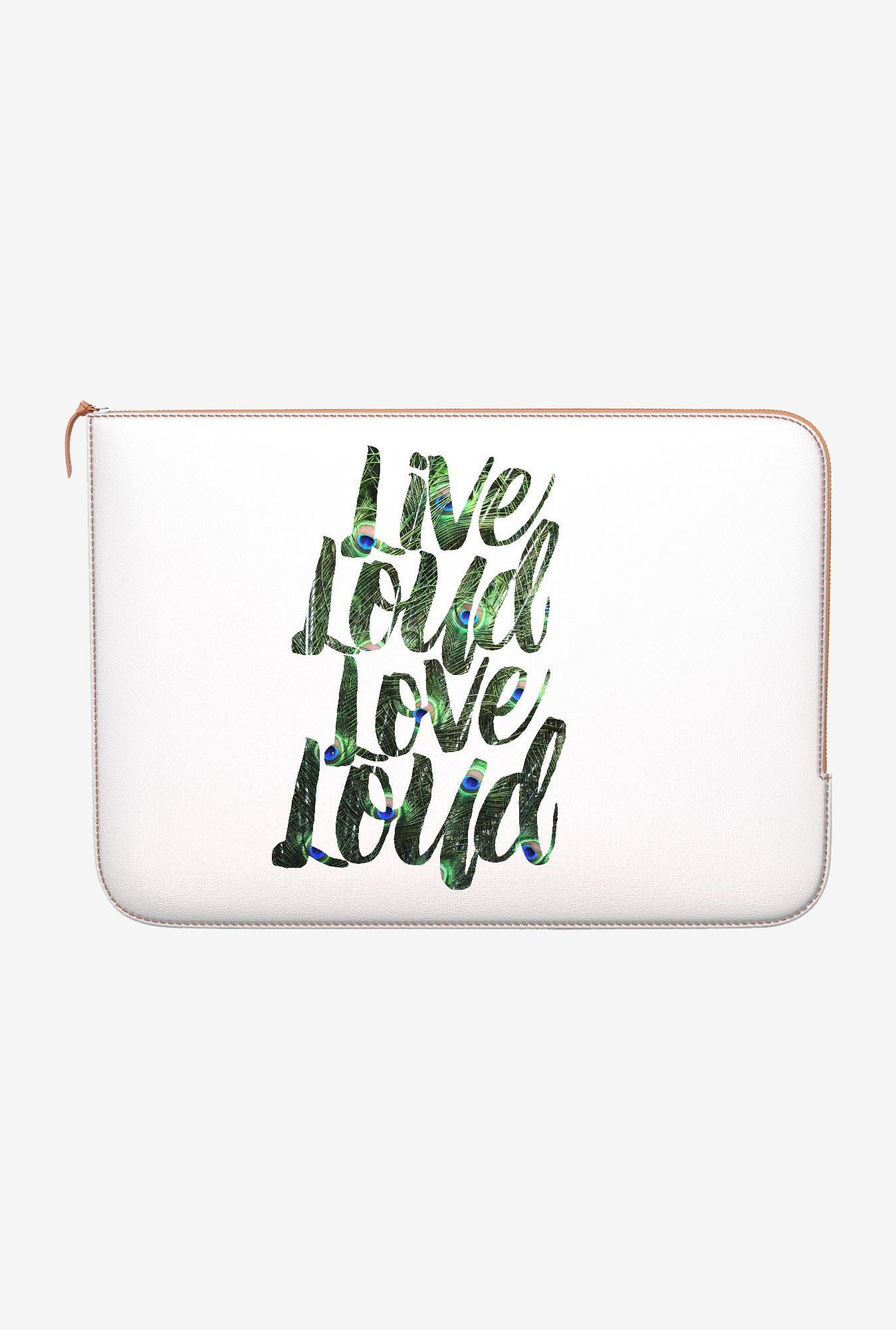 DailyObjects Live Love Loud MacBook Pro 15 Zippered Sleeve