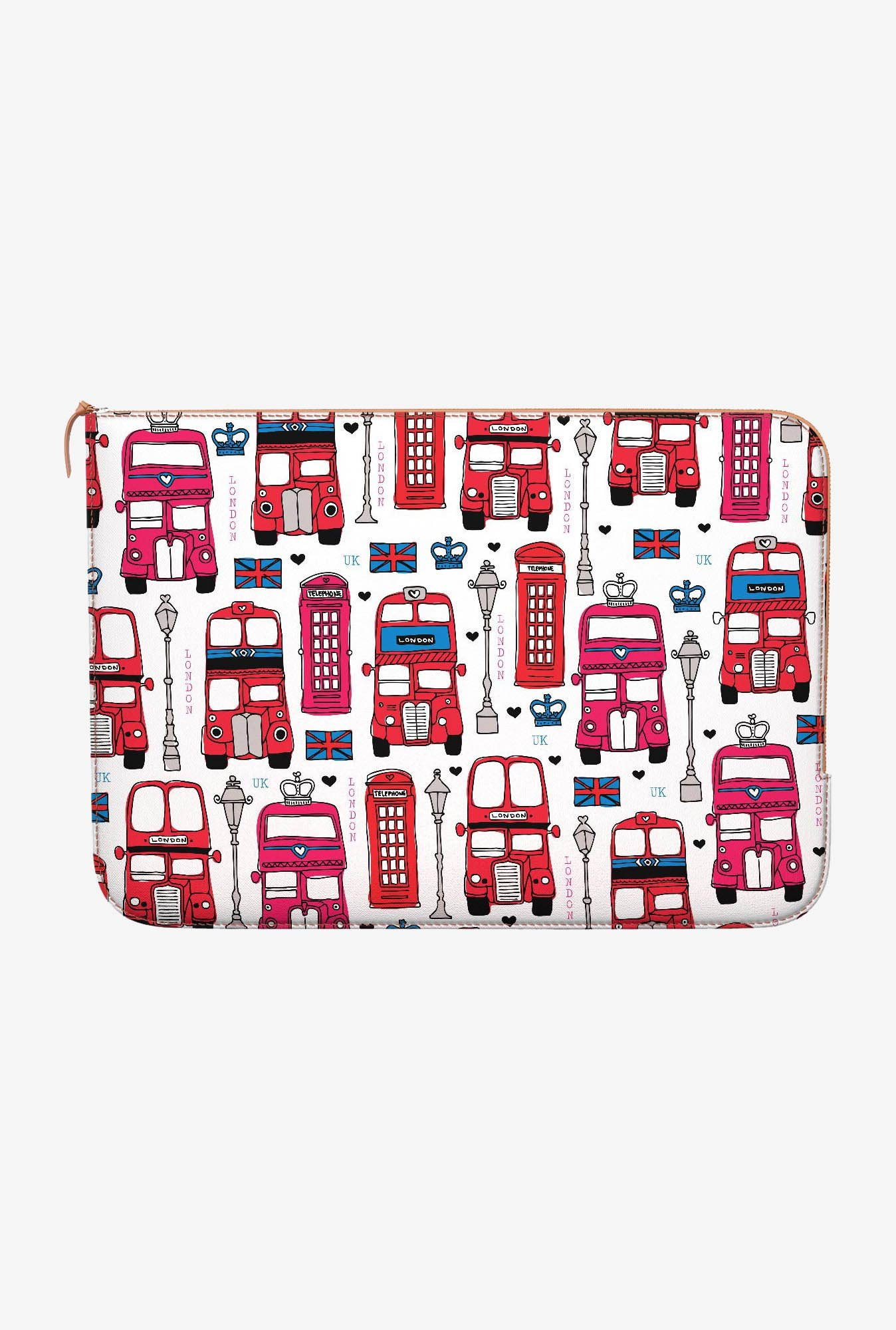 DailyObjects London Bus MacBook 12 Zippered Sleeve