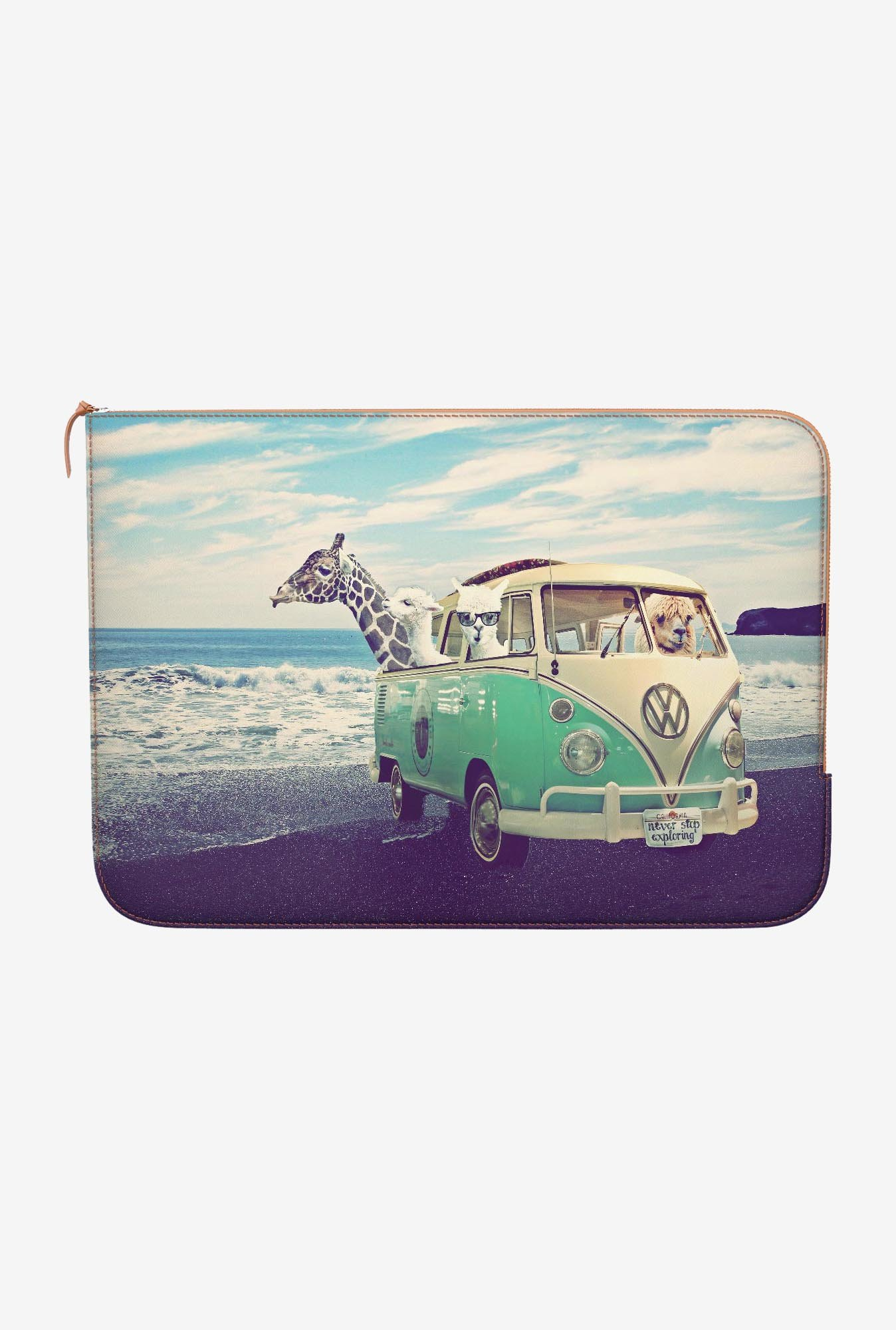 DailyObjects Exploring Beach MacBook Pro 13 Zippered Sleeve